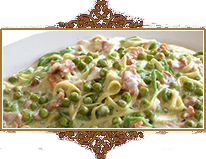 Pasta with Peas and Ham at Rigoletto's